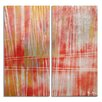 Ready2hangart 'Bueno Exchange' by Alexis Bueno 2 Piece Graphic Art on Wrapped Canvas Set in Red