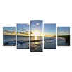 Ready2hangart 'Day Break' by Christopher Doherty 5 Piece Photographic Print on Wrapped Canvas Set