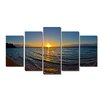 Ready2hangart 'Sun Rise' by Christopher Doherty 5 Piece Photographic Print on Wrapped Canvas Set