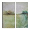 Ready2hangart 'Abstract Landsape' by Alexis Bueno 2 Piece Painting Print on Wrapped Canvas (Set of 2)
