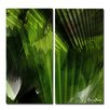 Ready2hangart Abstract Palm Leaves' 2 Piece Graphic Art on Canvas Set