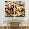 Ready2hangart 'Never Enough Corks' by Alexis Bueno 2 Piece Oversized Wrapped Canvas Wall Art Set