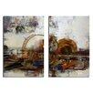 Ready2hangart Muzik XIX' 2 Piece Painting Print on Canvas Set