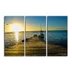 Ready2hangart 'Wooden Pier' by Christopher Doherty 3 Piece Photographic Print on Wrapped Canvas Set