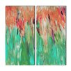 Ready2hangart 'Abstract Landsape' by Alexis Bueno 2 Piece Painting Print on Wrapped Canvas Set