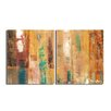 Ready2hangart 'Smash XII' by Art Alexis Bueno 2 Piece Wrapped Canvas Wall Art Set