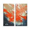 Ready2hangart Smash XIV' Oversized 2 Piece Painting Print on Canvas Set