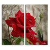 Ready2hangart Roses are Red II' 2 Piece Graphic Art on Canvas Set