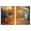 Ready2hangart 'Smash XVII' by Art Alexis Bueno 2 Piece Wrapped Canvas Wall Art Set