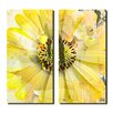 Ready2hangart Painted Petals XCV 2 Piece Graphic Art on Canvas Set