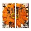 Ready2hangart Painted Petals LXXVI 2 Piece Graphic Art on Canvas Set