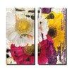 Ready2hangart Painted Petals LXXXVI 2 Piece Graphic Art on Canvas Set