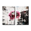Ready2hangart Painted Petals LXXXVIII 2 Piece Graphic Art on Canvas Set