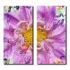 Ready2hangart Painted Petals XCII 2 Piece Graphic Art on Canvas Set