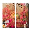 Ready2hangart Painted Petals LXXXV 2 Piece Graphic Art on Canvas Set