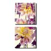 Ready2hangart Painted Petals LXXII 2 Piece Graphic Art on Canvas Set