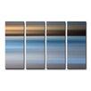 Ready2hangart 'Blur Stripes XLIII' 4 Piece Wall Art on Canvas Set