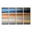 Ready2hangart 'Blur Stripes XLV' 4 Piece Wall Art on Canvas Set