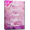 Ready2hangart 'Mum Mommy Mom Mother Mama' Framed Graphic Art on Wrapped Canvas