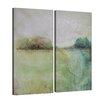 Ready2hangart 'Bueno Exchange XXVII' 2 Piece Painting Print on Wrapped Canvas Set