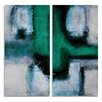 Ready2hangart 'Bueno Exchange L' 2 Piece Painting Print on Wrapped Canvas Set