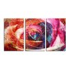 Ready2hangart 'Abstract Rose' 3 Piece Graphic Art on Wrapped Canvas Set
