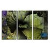 Ready2hangart 'Tropical Abstract Flower' 3 Piece Graphic Art on Wrapped Canvas Set