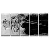 Ready2hangart 'Glitzy Mist IX' by Tristan Scott 5 Piece Graphic Art on Wrapped Canvas Set