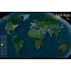 Wallpops! Earth at Night World Map - Glow in the Dark Wall Sticker