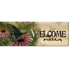 WGI WoodGraphixs, Inc Welcome Black Swallowtail Butterfly by Rosemary Millette Graphic Art Plaque