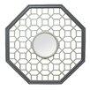 Stratton Home Decor Octagon Fretwork Wood Wall Mirror