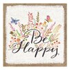 "Stratton Home Decor ""Be Happy"" Graphic Art"