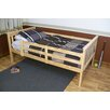 A&L Furniture Slat Bed with Safety Rails