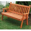 A&L Furniture English Wood Garden Bench