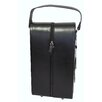 AmeriLeather Leather Double Wine Case Holder