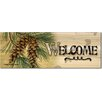 WGI-GALLERY Welcome Pine Cone Graphic Art Plaque