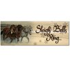 WGI-GALLERY Holiday Sleigh Bells Ring Graphic Art Plaque