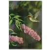 WGI-GALLERY Humming Butterfly Bush Painting Print Plaque
