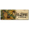 WGI-GALLERY Welcome Monarch Butterfly Graphic Art Plaque