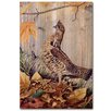 WGI-GALLERY Ruffed Grouse Painting Print Plaque