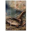WGI-GALLERY Small Mouth Bass Painting Print Plaque