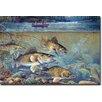 "WGI-GALLERY ""Fisherman's Walleye"" Painting Print on Wood"