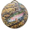 WGI-GALLERY 'Rainbow Trout' Painting Print on Wood