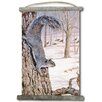 WGI-GALLERY 'Morning Feed Squirrels' Painting Print on White Canvas