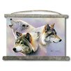 WGI-GALLERY 'Wolves are Forever' Painting Print on White Canvas