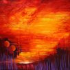 Art Excuse 'Sisters' by Charlotte Wensley Original Painting on Wrapped Canvas