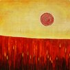 Art Excuse 'Hiding in the Corn' by Charlotte Wensley Original Painting on Wrapped Canvas