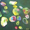 Art Excuse 'Water Gem#4' by Susan Lhamo Original Painting on Wrapped Canvas