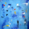 Art Excuse 'Surface Conversation' by AX Original Painting on Wrapped Canvas
