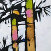 Art Excuse 'Palms Deux' by Susan Lhamo Original Painting on Wrapped Canvas